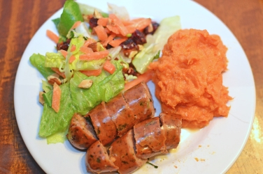 chicken sausage sweet potatoes