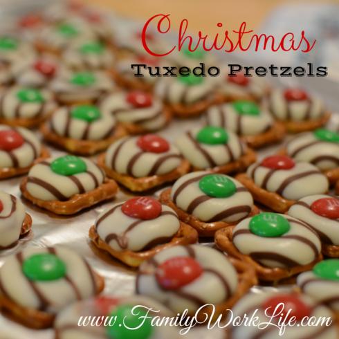 Christmas Tuxedo Pretzels Baking With Kids