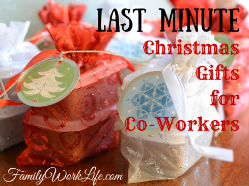 Last Minute Christmas Gifts for Co-Workers