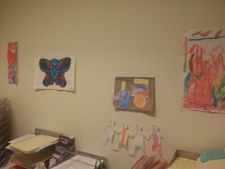 a few of the masterpieces in my office